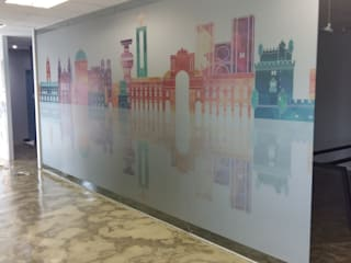 Frosted Vinyl Decals:  Study/office by Resurface Graphics