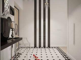 Цветущий миндаль Дизайн-студия Анны Игнатьевой Коридор, прихожая и лестница в модерн стиле