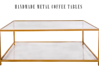 Contemporary Metal and Glass Coffee Table:   by Andrew McQueen
