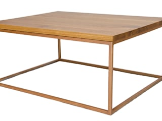 Metal and Oak Coffee Tables van Andrew McQueen Minimalistisch