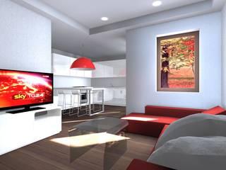 Appartamento Confortevole e Luminoso: Soggiorno in stile  di Architettiamo Progetti On-Line