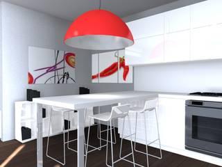 Cucina a Penisola: Cucina in stile  di Architettiamo Progetti On-Line