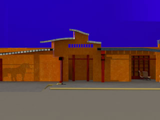 Cottage in New Mexico   La Joya  U.S.A.:  de estilo  de a. ruete architects    architects collaborating associates