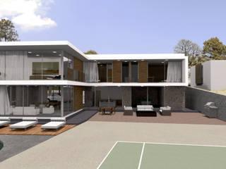 Casa FS - Patio / Área verde: Jardines de estilo  por Bloque Arquitectónico