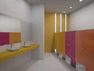 Interior Baño niñas:  de estilo  por Lasso Design Studio