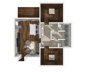 RECÁMARA PRINCIPAL:  de estilo  por Lasso Design Studio