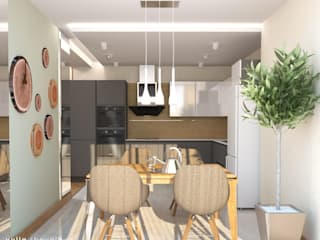 Kitchen by Мастерская интерьера Юлии Шевелевой, Minimalist