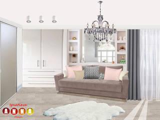 Розовый кварц Дизайн-студия Анны Игнатьевой Спальня в стиле минимализм
