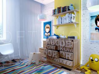 ТАУНХАУС, КП КЕМБРИДЖ: Детские комнаты в . Автор – Loft&Home
