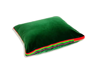 Poduszka zielony aksamit, butelkowa zieleń: styl , w kategorii  zaprojektowany przez FOLKA