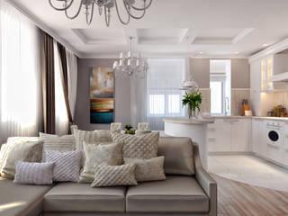 ТАУНХАУС, КЕМБРИДЖ 124М2: Гостиная в . Автор – Loft&Home