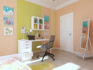 ТАУНХАУС, КЕМБРИДЖ, 120М2: Детские комнаты в . Автор – Loft&Home