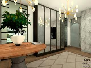 Hall de entrada: Pasillos y vestíbulos de estilo  de Arqbellytura