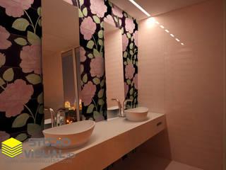 Diseño interior baño Baños de estilo moderno de Studio Visual 3d Moderno