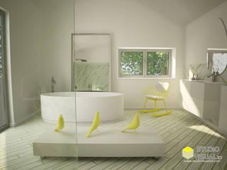Diseño baño principal Baños de estilo moderno de Studio Visual 3d Moderno