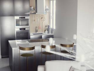 Black & White Cocinas de estilo industrial de Arrin. Industrial
