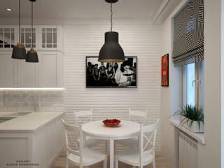 Гостиная + кухня со скандинавским настроением: Гостиная в . Автор – ALENA SERGIENKO