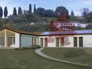 progetto di massima casa in legno: Case in stile in stile Moderno di ARCHITETTO MICHELE SLAVIERO