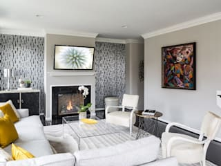 Livings de estilo  por Lorna Gross Interior Design, Moderno
