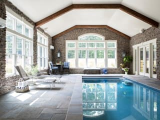 Riverside Retreat - Indoor Pool: classic Pool by Lorna Gross Interior Design