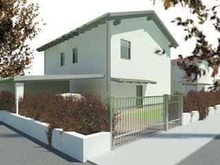 Villette unifamigliare e bifamigliare Case moderne di martina fossati architetto Moderno
