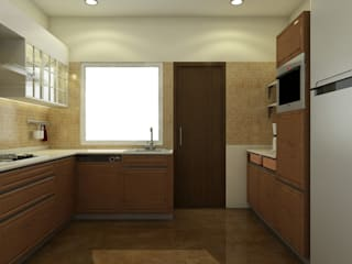 Sobha City - Casa Paradiso: eclectic Kitchen by KRIYA LIVING