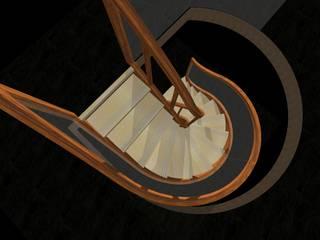 Projekt: schody + szyba - różne warianty: styl , w kategorii  zaprojektowany przez projekty.schody.PL
