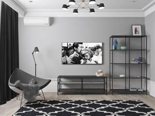 """Квартира в ЖК """"Артхаус"""" Гостиная в скандинавском стиле от OBJECT Скандинавский"""