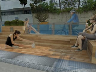 XLA Studio de Arquitetura Rustic style garden