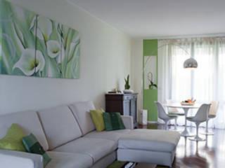 nuovi interni in villa Soggiorno moderno di zerbini villani architetti Moderno