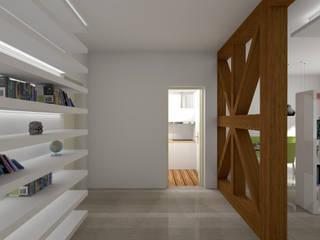Corredores, halls e escadas modernos por morfoLL architecture+design Moderno Tijolo