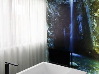 Wanna z półkami - piękna i praktyczna. Nowoczesna łazienka od Luxum Nowoczesny