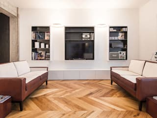 Appartamento M52 Soggiorno minimalista di THSC Minimalista