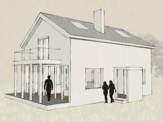 Casa cotttage en madera. vista:  de estilo  de Estudo de Arquitectura Denís Gándara