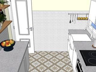 Cocina en bajocubierta. Vista I:  de estilo  de Estudo de Arquitectura Denís Gándara
