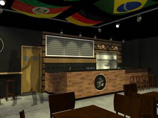 Bar | Cervejas Artesanais Bares e clubes rústicos por PONTO ARQ. ARQUITETURA E URBANISMO Rústico
