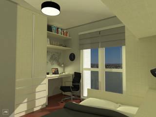 Dormitório Masculino + Office Quartos modernos por PONTO ARQ. ARQUITETURA E URBANISMO Moderno