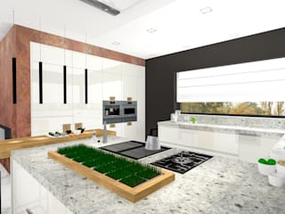 Modern kitchen by Justyna Kurtz Modern