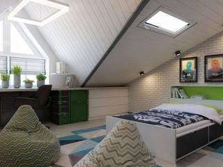 ТАУНХАУС, КЕМБРИДЖ, 120М2: Спальни в . Автор – Loft&Home
