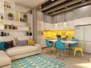 ТАУНХАУС, КЕМБРИДЖ 120М2, ПОП-АРТ: Гостиная в . Автор – Loft&Home