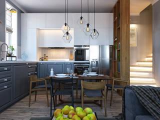 ТАУНХАУС, КЕМБРИДЖ 135М2, ЭКО-LOFT: Кухни в . Автор – Loft&Home