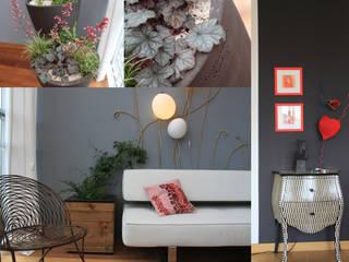 Création d'un jardin d'hiver SVM Claire Humeau Salon moderne Bois Rose