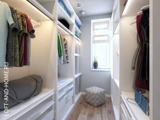 КЕМБРИДЖ, ТАУНХАУС 165М: Гардеробные в . Автор – Loft&Home