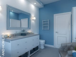 КЕМБРИДЖ, ТАУНХАУС 165М: Ванные комнаты в . Автор – Loft&Home