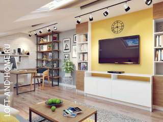 ТАУНХАУС, БРИСТОЛЬ 148М2: Гостиная в . Автор – Loft&Home