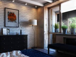 КВАРТИРА НА БЕЛОРУССКОЙ, 136М2: Спальни в . Автор – Loft&Home