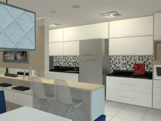 Projeto de interiores - Apartamento 503: Cozinhas  por Kestie Arquitetura