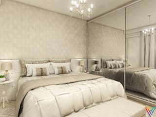 Dormitório Clean por Vitral Studio Arquitetura Moderno