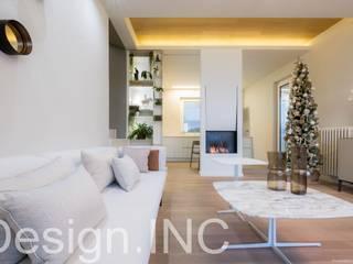 A qualcuno Piace Loft!: Soggiorno in stile in stile Moderno di Design.inc