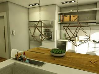 LOFT - CASAL Cozinhas modernas por MQ Design Interiores Moderno